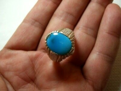 Natural Native Tribal Turquoise 925 Silver ring 7.95-gm sizes us:10