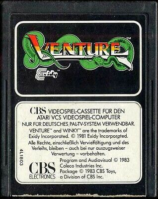 Atari 2600 game - Venture [Whitelabel] (cartridge)
