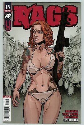 Rags 1 3rd print variant cover Antartic Press Comics 2019 low print run Zombies