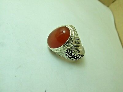 Natural Persian Yemen Agat ring 12-gm sizes us:11
