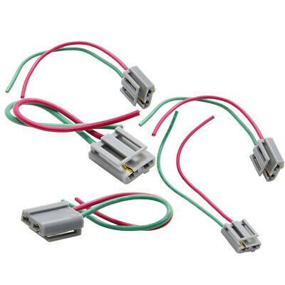 2x Hei Distributor Wire Harness Pigtail Dual 12v Power And