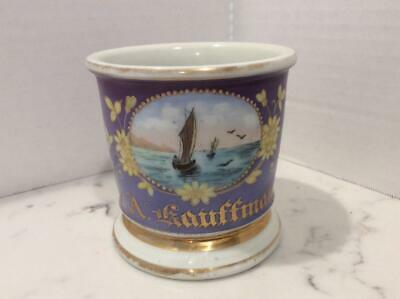 Antique Occupational / Leisure Sport Personalized Shaving Mug, Sailboat Kauffman