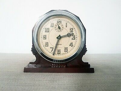 French Art Deco Bakelite Clock Working 1930s Blangy Vintage
