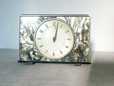 Metamec Art Deco Clock Working 1930s Mantle Vintage