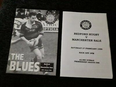 1999-Bedford V Manchester Sale-Premiership Club Rugby Union Programme