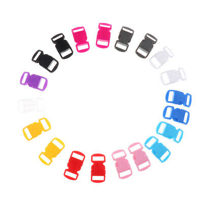 20pcs Colorful Curved Side Release Plastic Buckle for Paracord Bracelet Bags