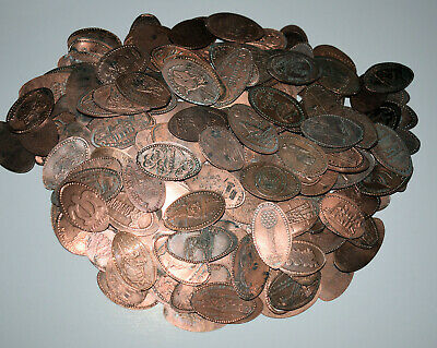 1. Lot Of 200 Pressed Elongated Penny's / Dirty Culls / You Clean / Treasures?