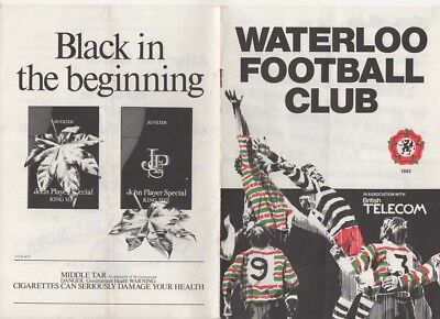 1985-Waterloo V Bath-5/1/85-Club Rugby Union Programme