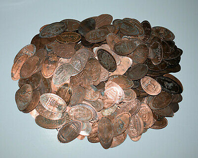 3. Lot Of 200 Pressed Elongated Penny's / Dirty Culls / You Clean / Treasures?