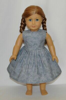 "Pewter Gray Dress For 18"" American Girl Doll Clothes"
