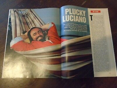 Joan Collins, Luciano Pavarotti - Express Magazine - 30Th May 1993