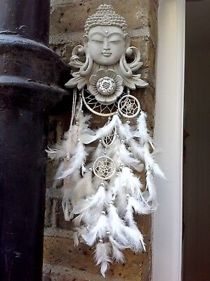 Large Simply Beautiful Buddhas Dream Catcher. Unique From The Designer Sius.