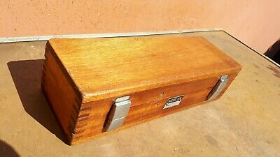 """Nice Dovetailed Wooden Mercer No. 273 2"""" - 6"""" Bore Setting Gauge Box"""