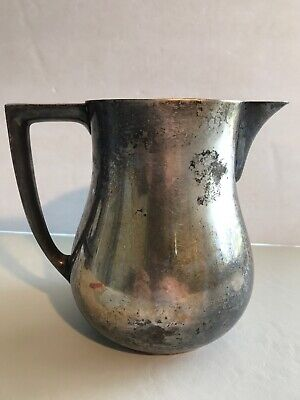 VTG Silverplate Water Pitcher W/Feet EPCA BRISTOL 215 Patina Decor