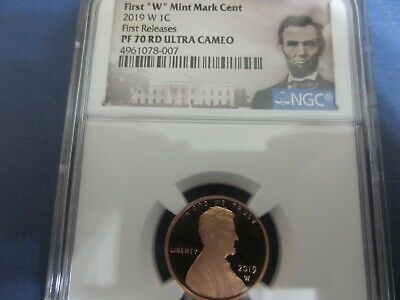 REVERSE Proof  2019 W Lincoln Cent NGC PF70RD ULTRA CAMEO FIRST RELEASE %