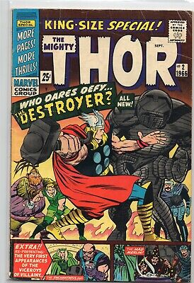 JOURNEY INTO MYSTERY ANNUAL #2 Thor Marvel Comics 1966 FN