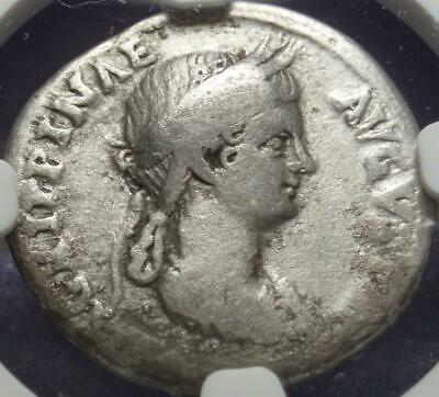 "51 AD ROME Denarius of ""CLAUDIUS & AGRIPPINA"" Silver KEY of the ""TWELVE CAESARS"""