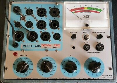 B&K DYNA-JET MODEL 606 Valve/Tube Tester *Calibrated *