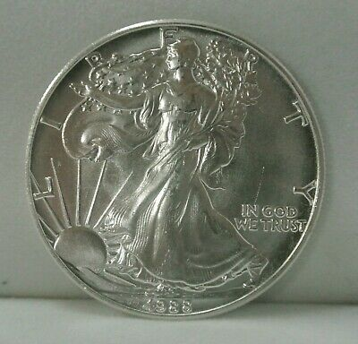 1988 American Silver Eagle 1 Oz Coin