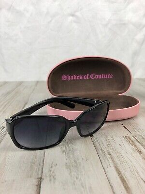 489fc6b785 Women s Black Juicy Couture Sunglasses With Pink Case