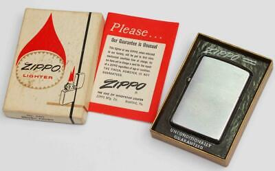 1969 vintage PLAIN ZIPPO MINT WITH BOX & PAPER - NOS