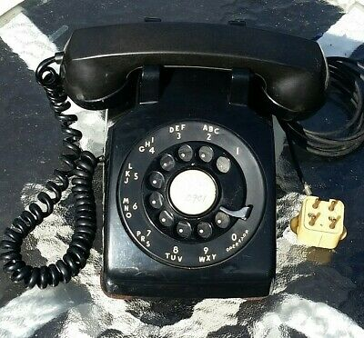 Vintage Western Electric Bell System CD 500 Black Metal Dial Rotary Phone Works