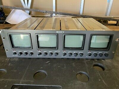 Sony PVM 4B1U 4 rack Monitors