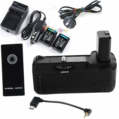Vertical Battery Grip Holder + NP-FW50 1080mAh Battery + Remote For Sony A6500