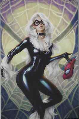 Amazing Spiderman 25 Stanley Artgerm Lau Comicxposure Black Cat Virgin Variant