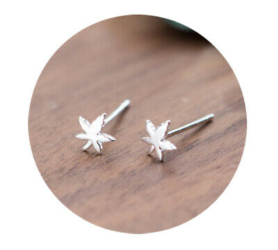 c81e214b2 925 Sterling Silver Maple Leaf Stud Earrings Canada Trees Leaves Studs  Canadian