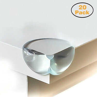 Calish Safety Corner Protectors for Kids (20pcs - Large - Clear), Table Edge...