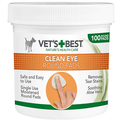 Vet's Best Eye Cleaning Pads for Dogs (Pack of 100)