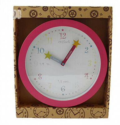 Brightly Coloured Childrens Tell The Time Teaching Wall Clock