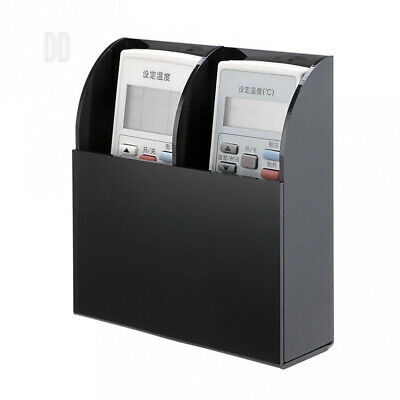 BTSKY Wall Mount Black Acrylic Remote Control Storage Holder Organizer Box...