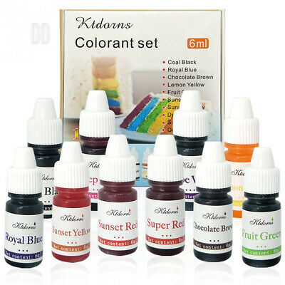 Food Colouring dye Flo Concentrated Liquid Air Brush - 10 Colours