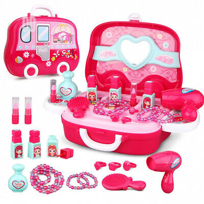 Role Play Jewelry Kit for Girls Toy Set Princess Suitcase Gift Kids Children...