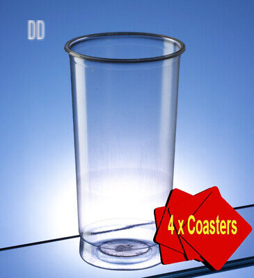 Plastic Disposable Pimms Glasses 340ml (12 oz) Clear. Offer Pack of 50...