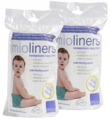 Bambino Mio, mioliners (Biodegradable Nappy Liners), 2 Pack