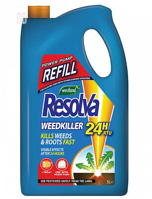 Resolva 24H Ready To Use Power Pump Weed Killer Refill, 5 Litre