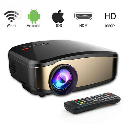 Video Projector Wi-Fi 1080P, VPRAWLS Full HD LED Home Theater Movie Portable...
