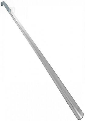 "HOUNDSBAY Great Dane 31.5"" Extra Long Handled Metal Shoe Horn with Comfort Grip"