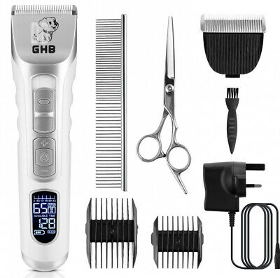 GHB Dog Clippers Pet Grooming Cordless Trimmers Low Noise Quiet with LCD...