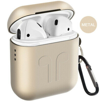 Metal Airpods Case, 2019 Newest Full Protective Skin Cover Accessories, Blue