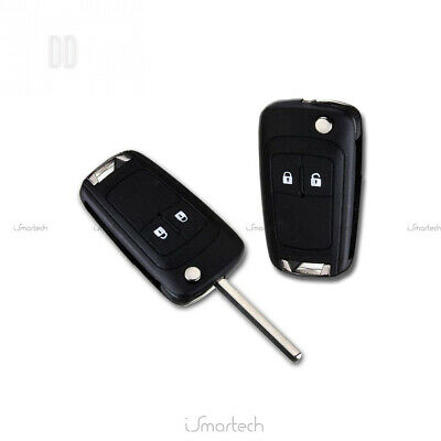 2-Button Remote Control Cover and Key for Vauxhall Astra J Vectra Insignia Shell