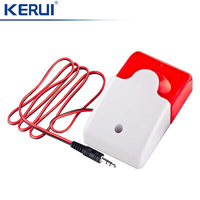 Wired Flash/Strobe Loud Alarm Siren For KERUI Home House Securtity Alarm System