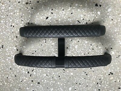 BUGABOO BUFFALO Leather Handle Bars/Belly Bar Covers (Black Quilt)