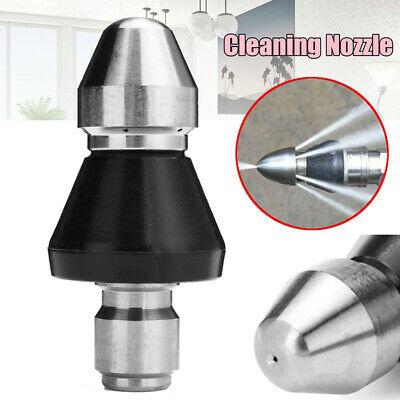 "1/4"" Quick Pressure Washer Sewer Pipe Dredge Nozzle Drain Cleaner New"