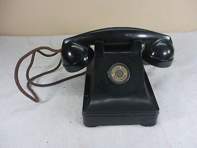 Vintage Western Electric Telephone No Dial  F 1 Handset Phone  circa. 1940's
