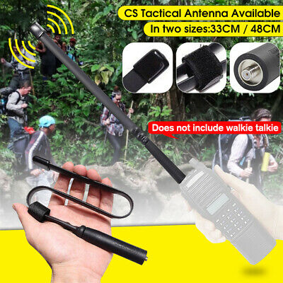 For Baofeng Tactical Antenna SMA-Female Dual Band VHF UHF 144/430Mhz 33cm