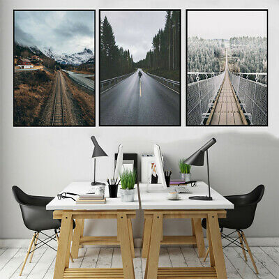 Canvas Print Poster Bedroom Room Roads Rail Photos Picture Art Home Wall Decor